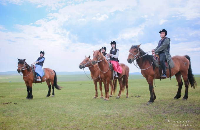 The day of horseback riding in Hulunbuir