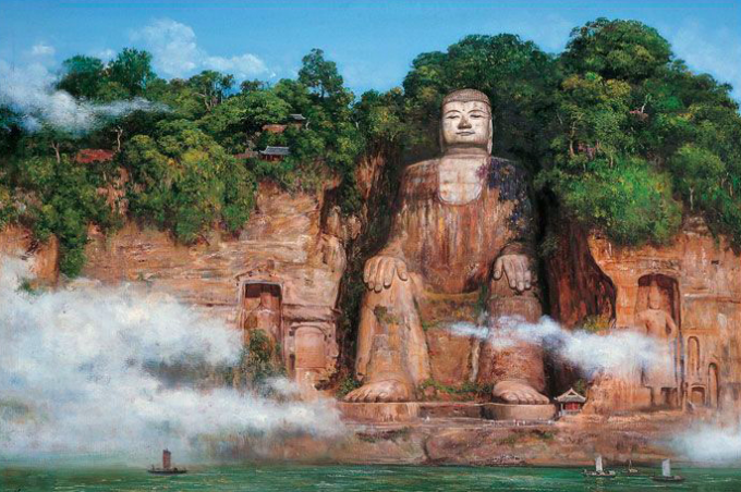 The Giant Buddha and Roast Duck of Leshan (from Chengdu)
