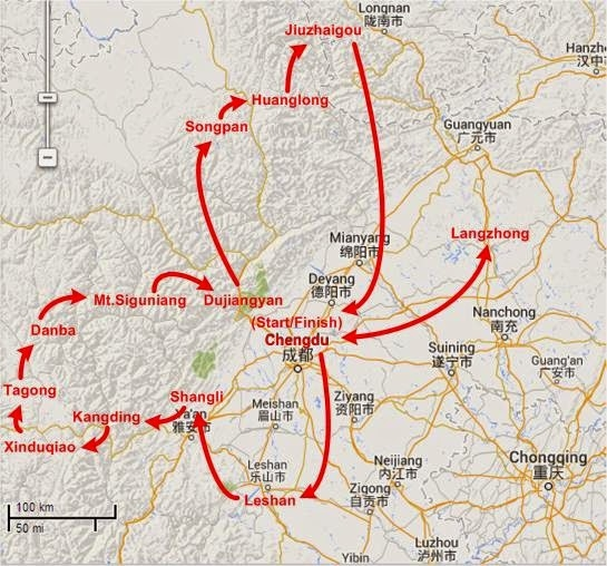 Chengdu Circle Route in 18 Days - Itinerary