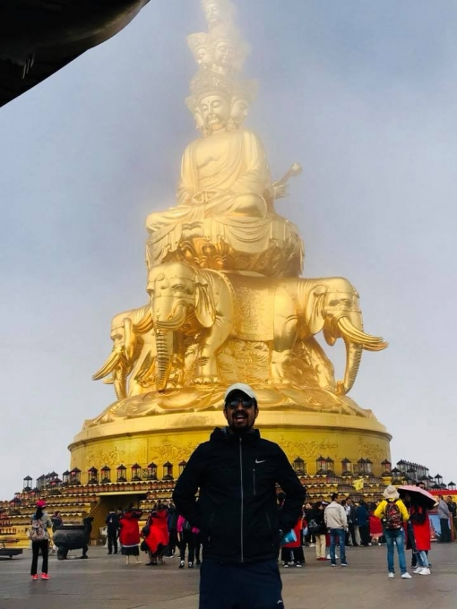 The Golden peak of Mount Emei
