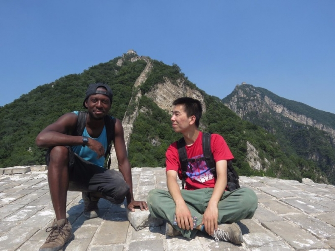 Near death experience on the great wall!
