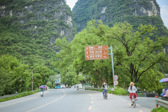 Riding and rafting in Guilin